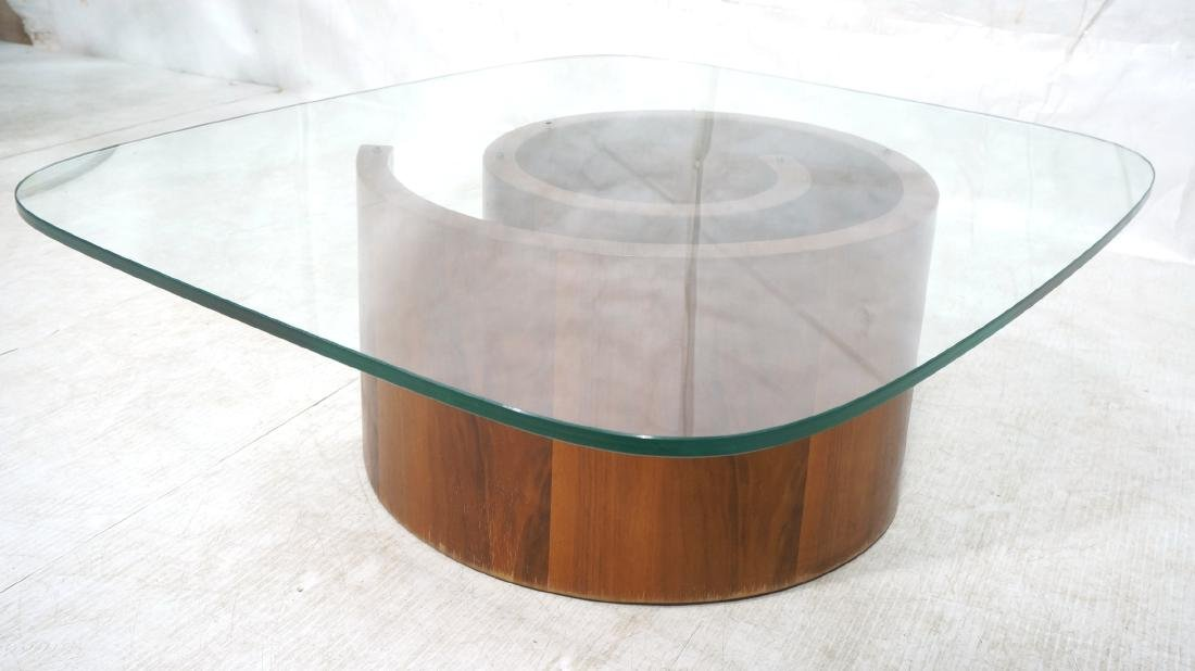 VLADIMIR KAGAN Snail Coffee Cocktail Table. Coile