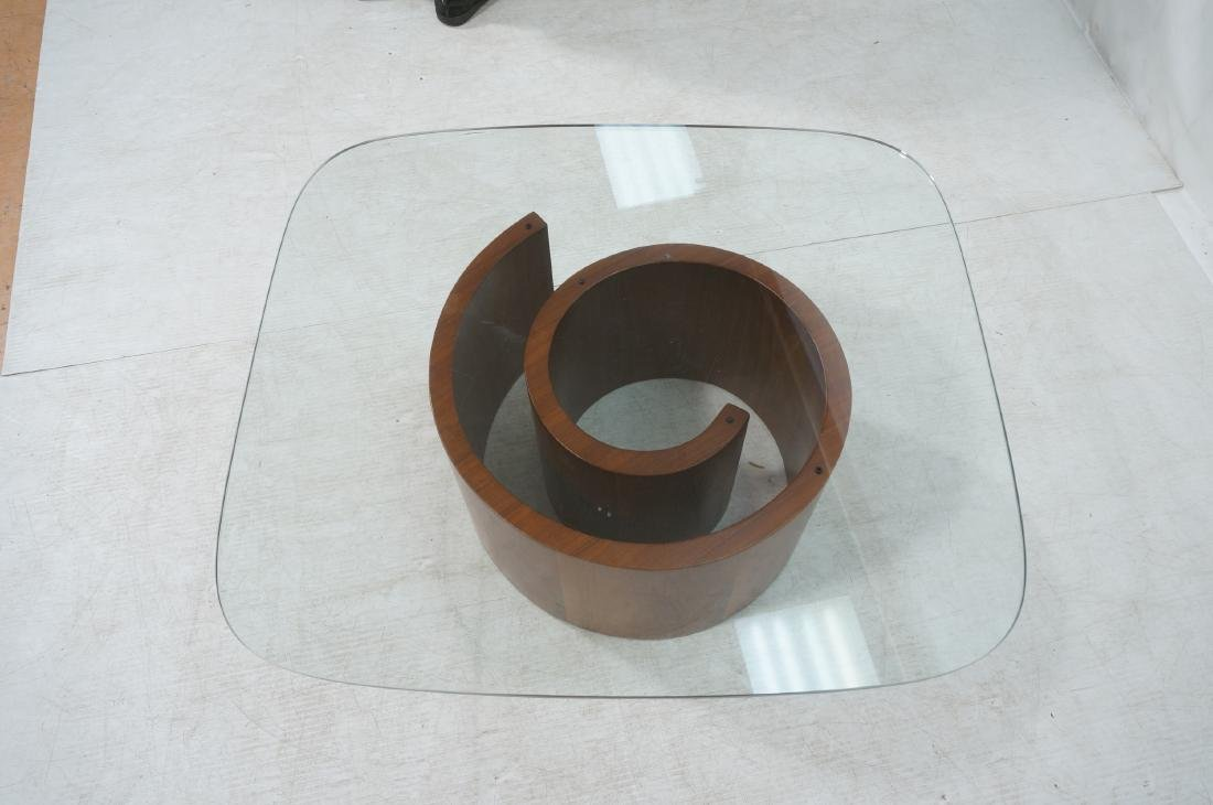 VLADIMIR KAGAN Snail Coffee Cocktail Table. Coile - 6
