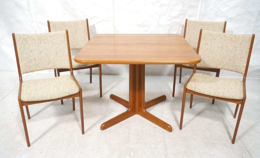 5pc Danish Modern Teak Dining Set. Square dining