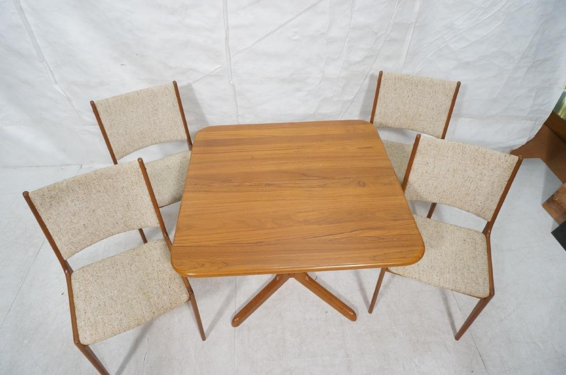 5pc Danish Modern Teak Dining Set. Square dining - 3