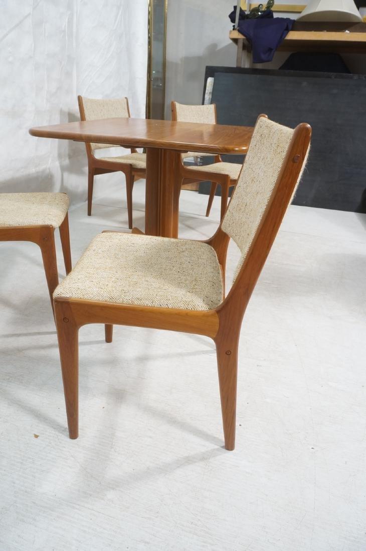 5pc Danish Modern Teak Dining Set. Square dining - 8
