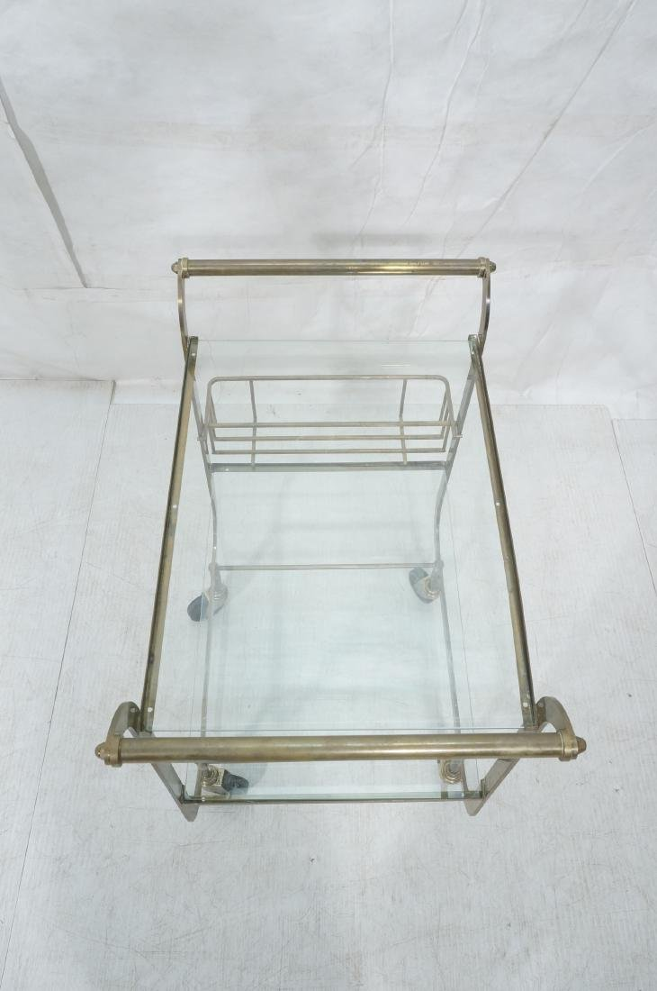 Italian style Rolling Solid Brass Bar Cart. Two l - 7