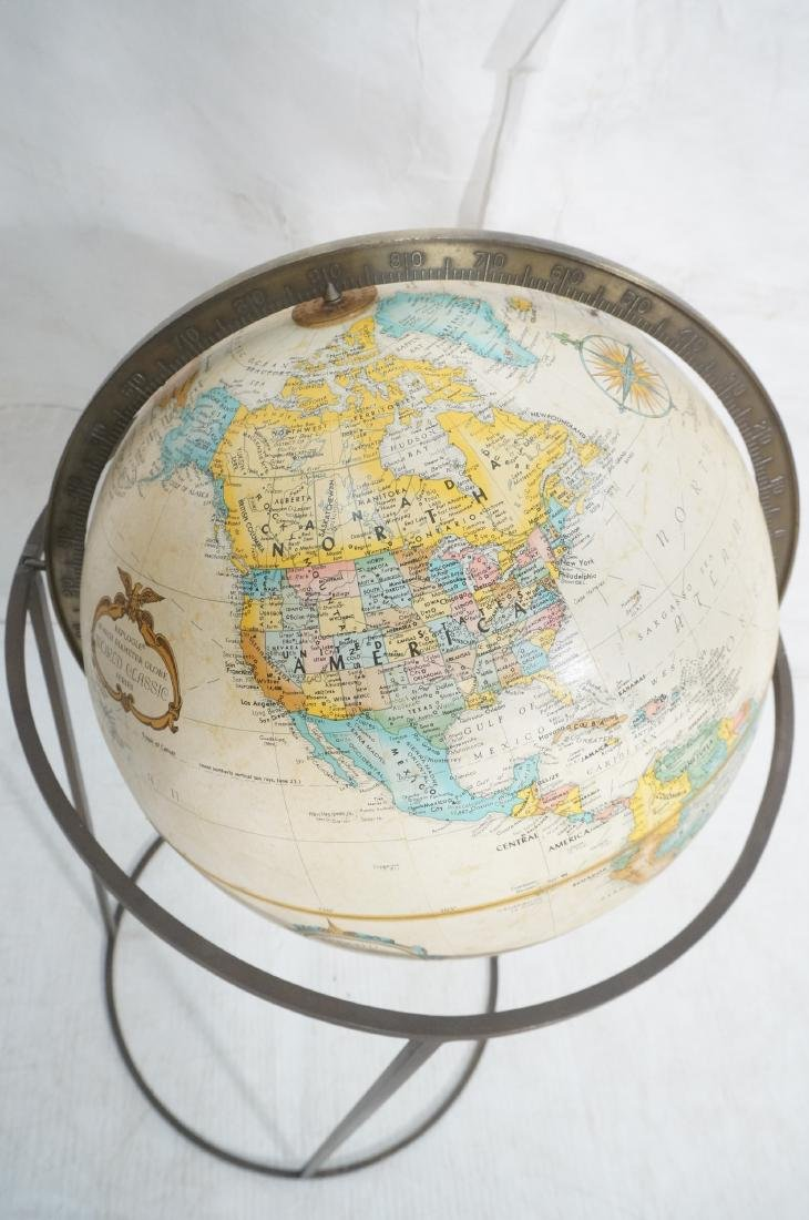 Modernist Large World Globe in Metal Stand.  Paul - 5