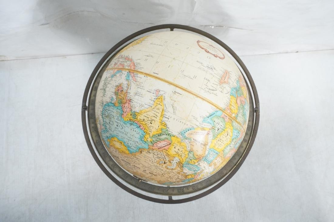 Modernist Large World Globe in Metal Stand.  Paul - 6
