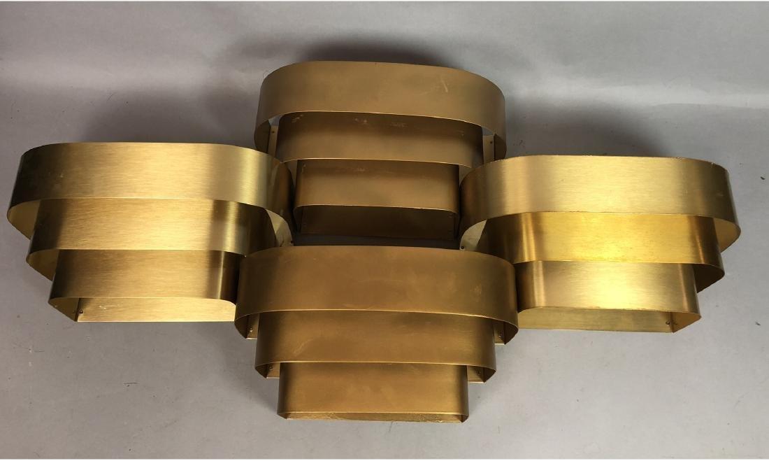 Set 4 PROGRESS LIGHTING Gold Aluminum Wall Sconce