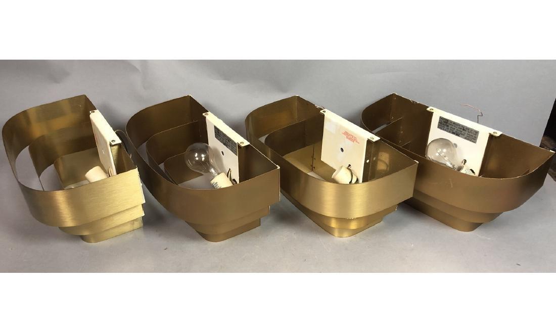 Set 4 PROGRESS LIGHTING Gold Aluminum Wall Sconce - 5