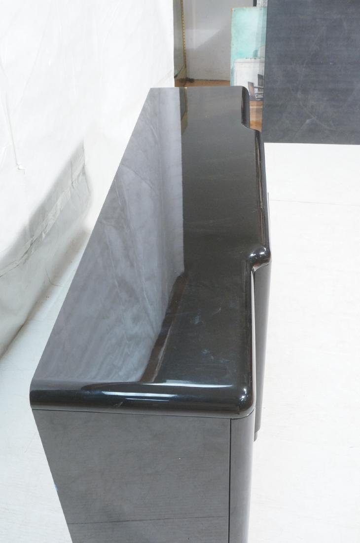 Black Modernist Credenza Sideboard. Stepped front - 4