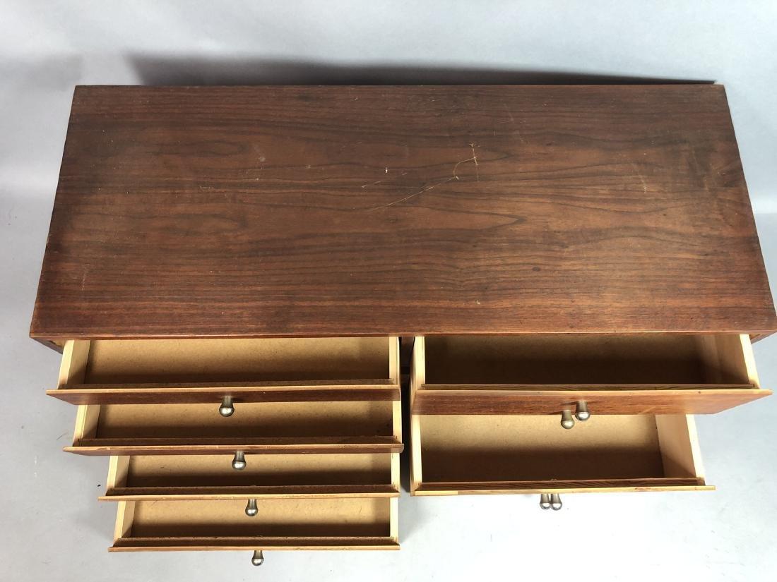 Pr Walnut Dresser Top Jewelry Chests. Metal Pulls - 3
