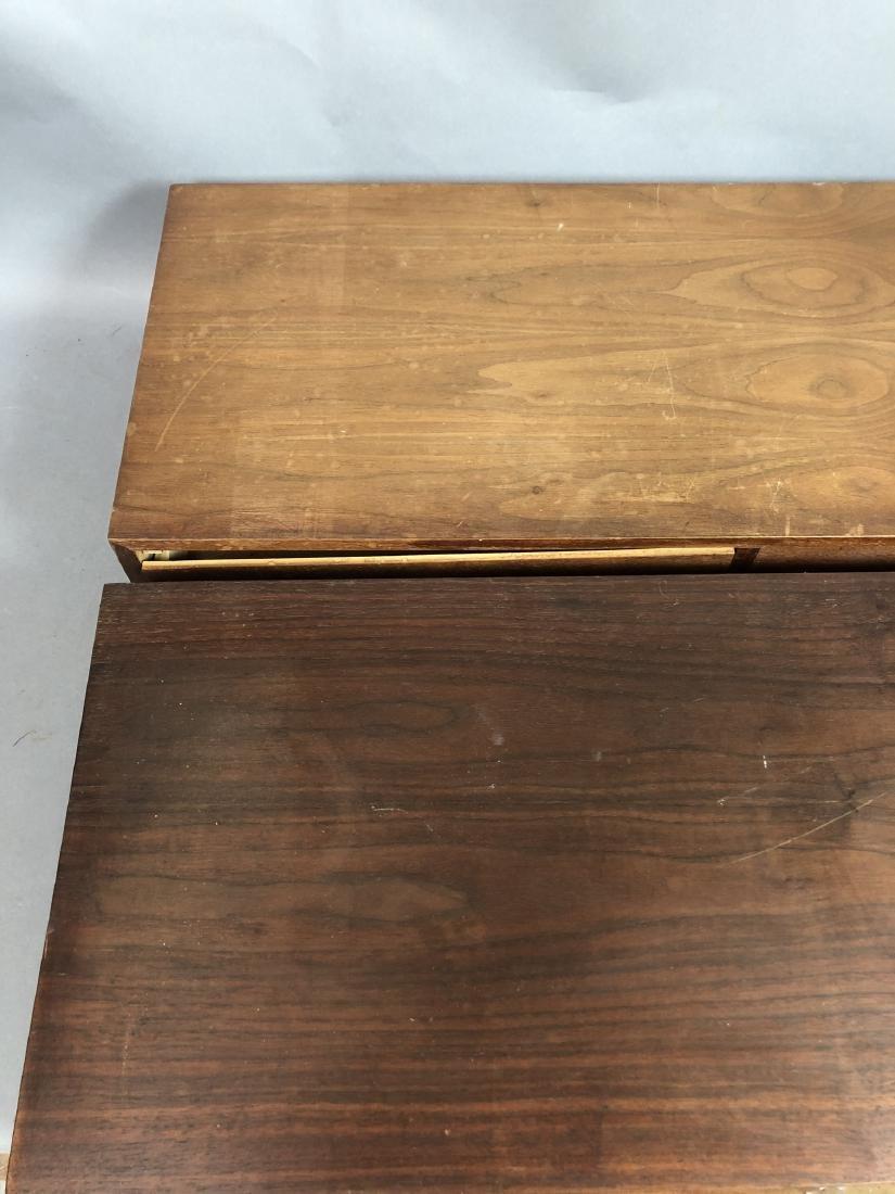 Pr Walnut Dresser Top Jewelry Chests. Metal Pulls - 4