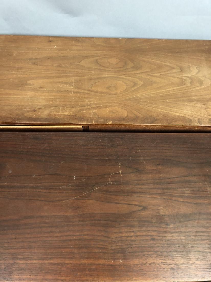 Pr Walnut Dresser Top Jewelry Chests. Metal Pulls - 5