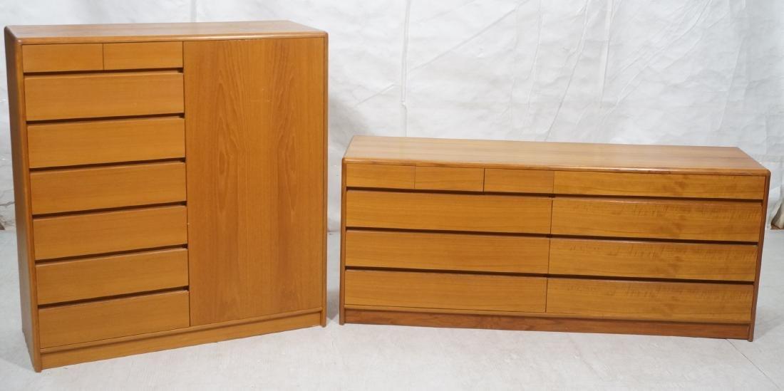 2pc Danish Modern Teak Bedroom Set. High & Low Ch
