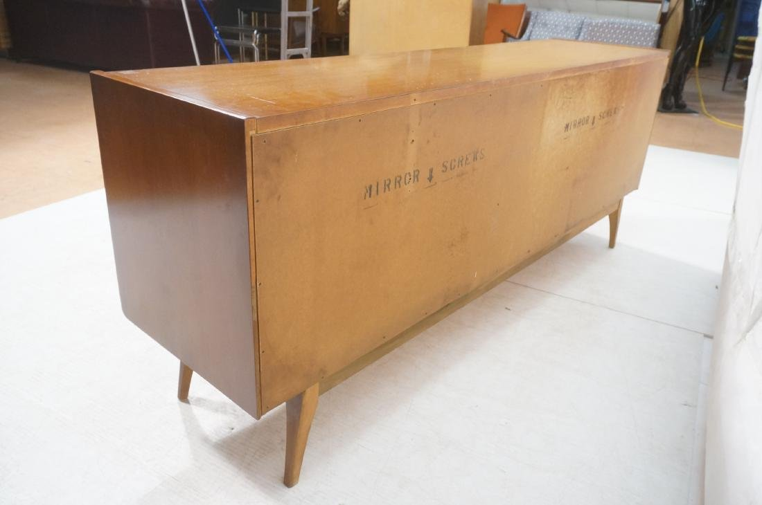 UNITED Walnut Angled Front Modernist Credenza Sid - 7