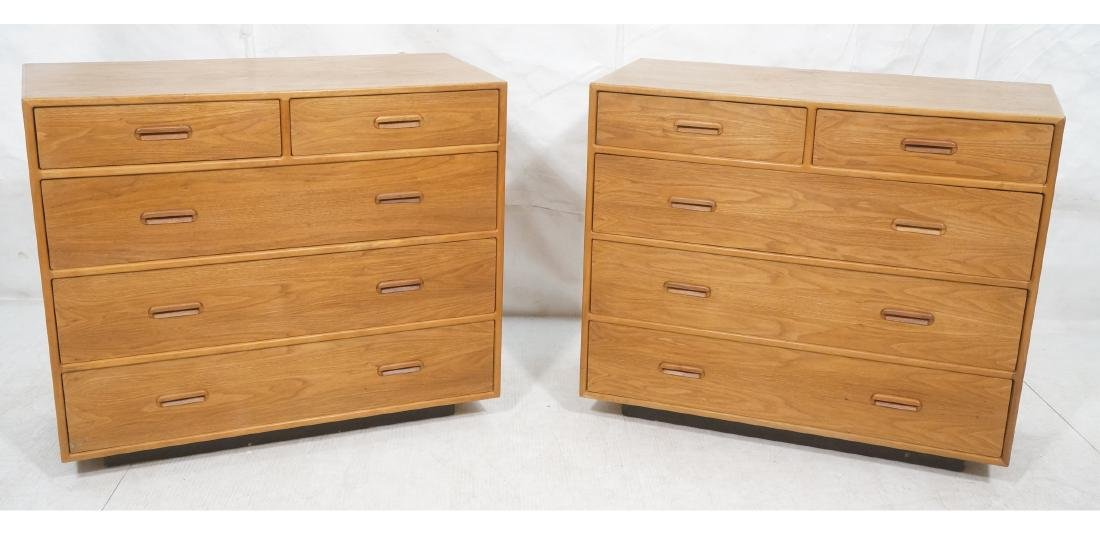 Pr Danish Modern Teak Bachelors Chests. Dressers.