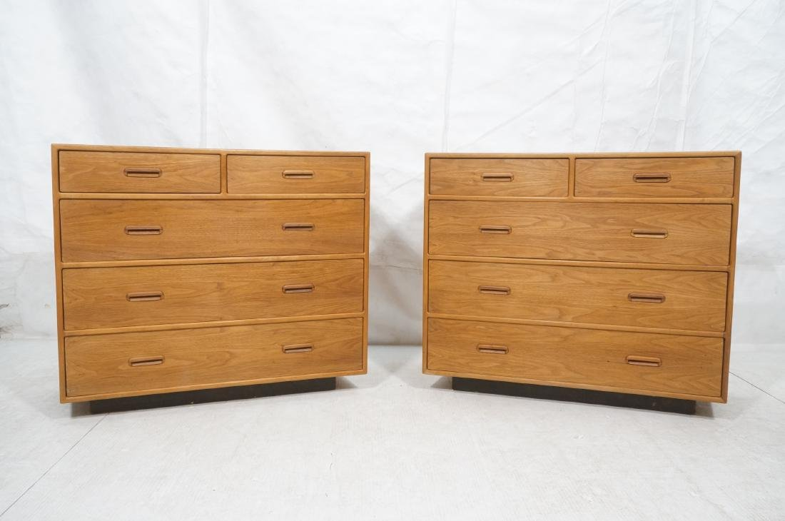 Pr Danish Modern Teak Bachelors Chests. Dressers. - 2