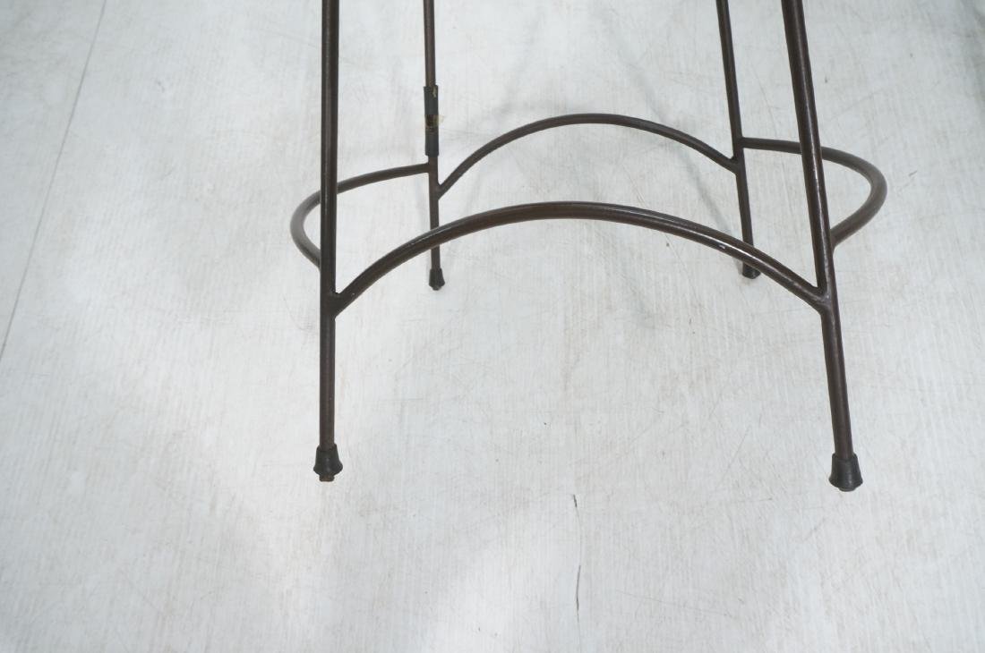 Set 4 ARTHUR UMANOFF Style Woven Rattan Bar Stool - 8