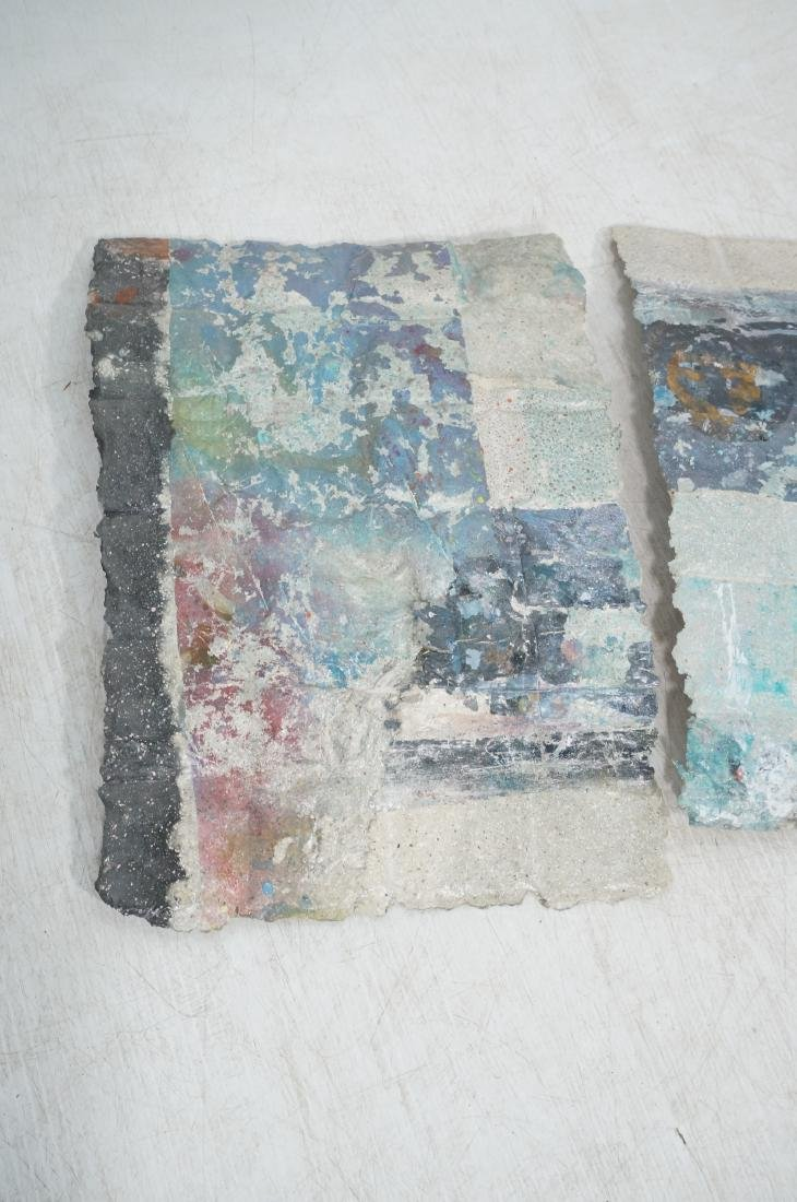 3pc Modernist Wall Hanging Marbled Patchwork Pape - 5