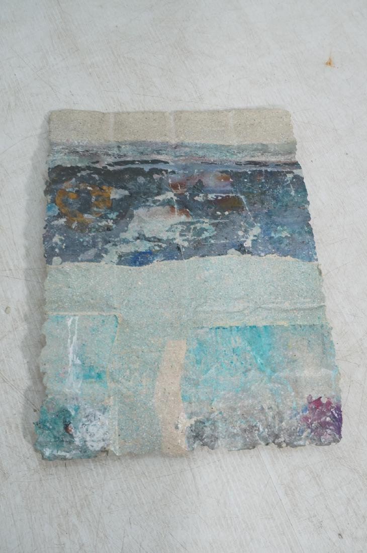 3pc Modernist Wall Hanging Marbled Patchwork Pape - 7