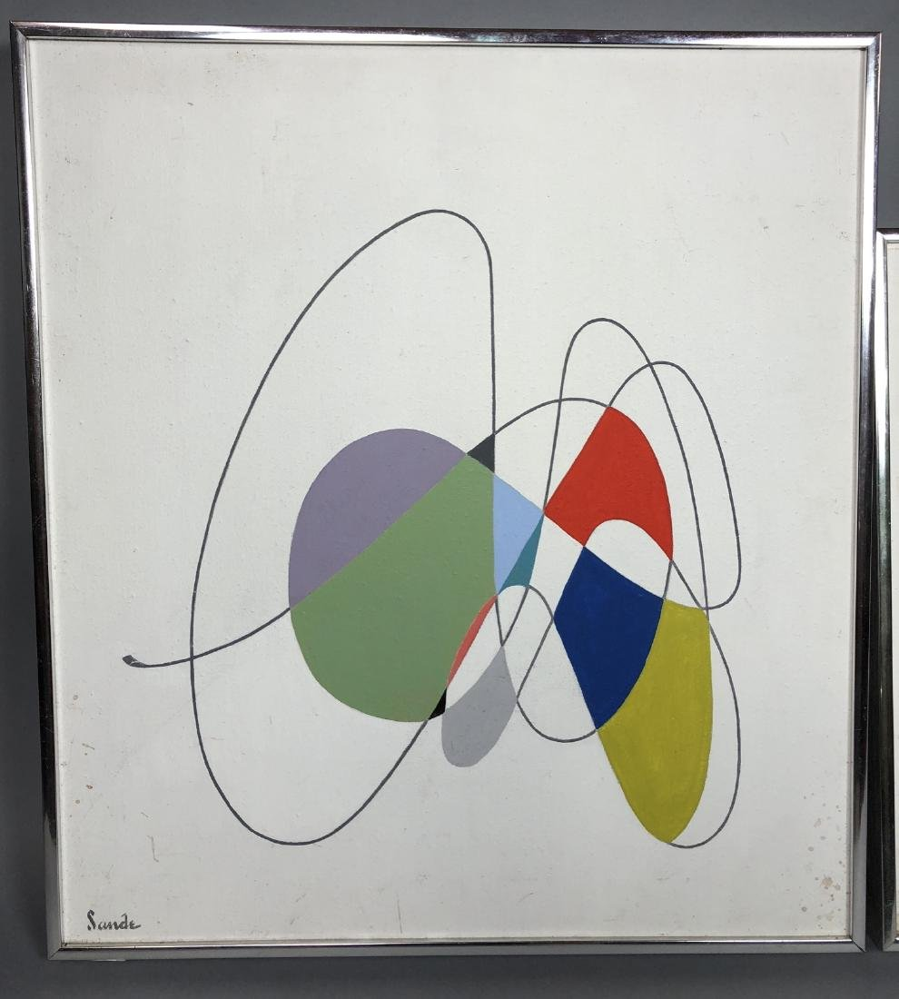 Pr SANDE Modernist Paintings. Linear drawings wit - 2