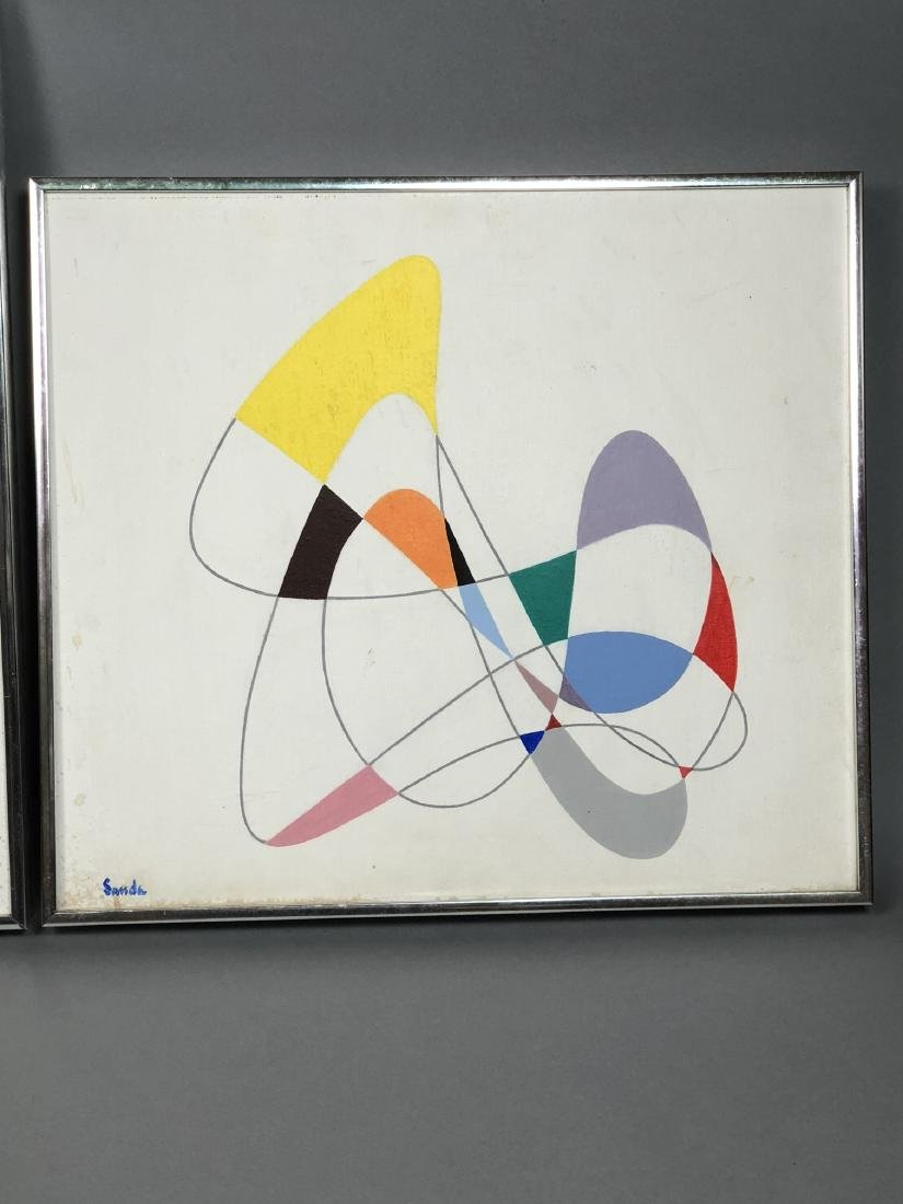 Pr SANDE Modernist Paintings. Linear drawings wit - 7