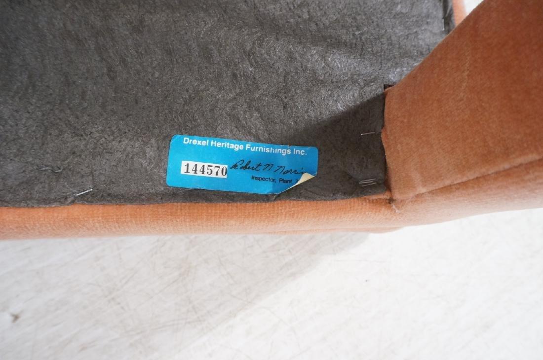 Pr Peach Velvet Decorator Bench Stool. Pillow top - 10