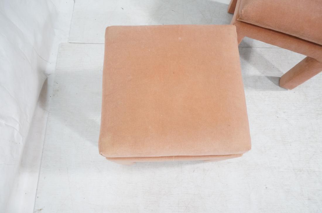 Pr Peach Velvet Decorator Bench Stool. Pillow top - 6