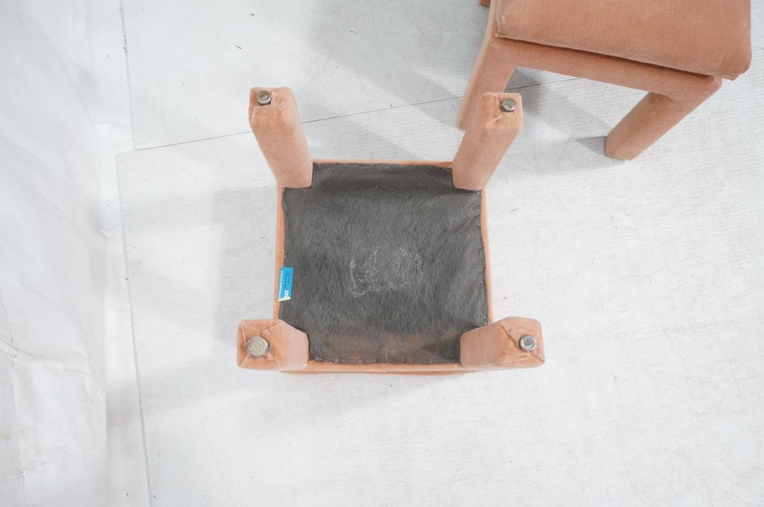Pr Peach Velvet Decorator Bench Stool. Pillow top - 8