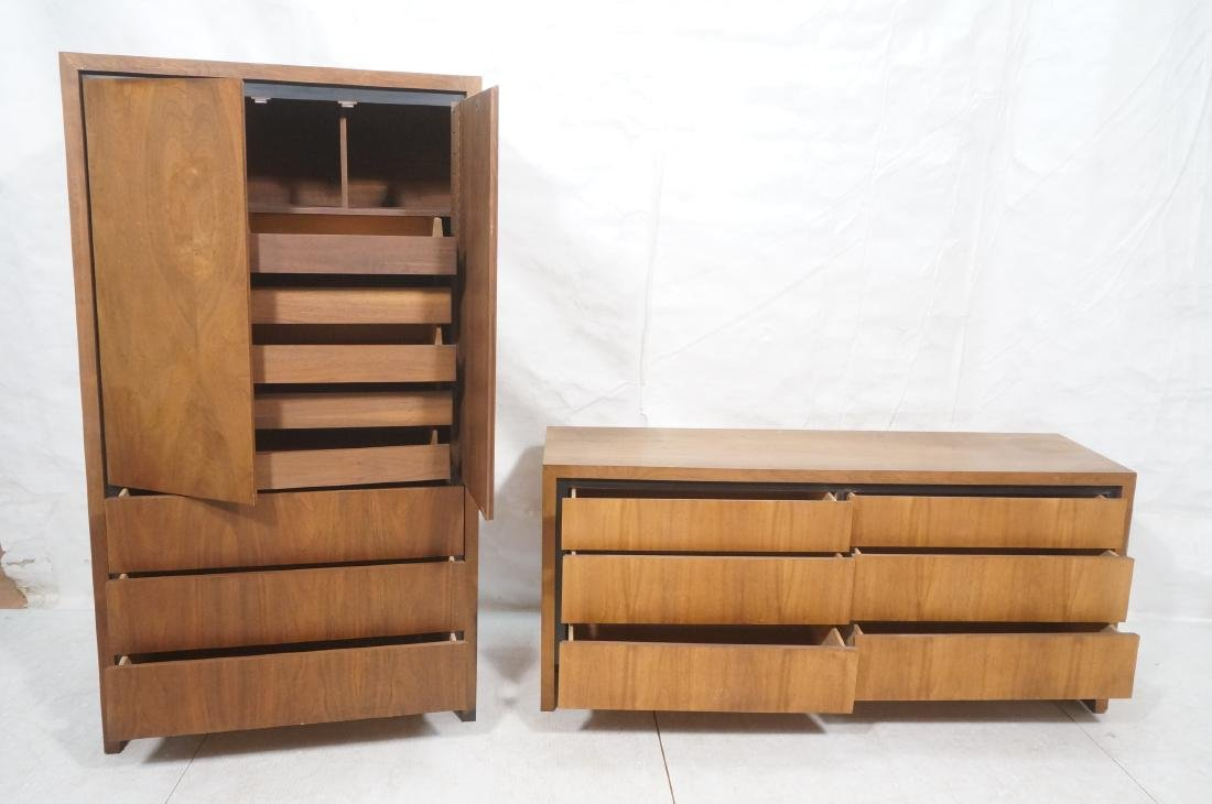 2Pc American Modern Walnut Bedroom Set DILLINGHAM - 10