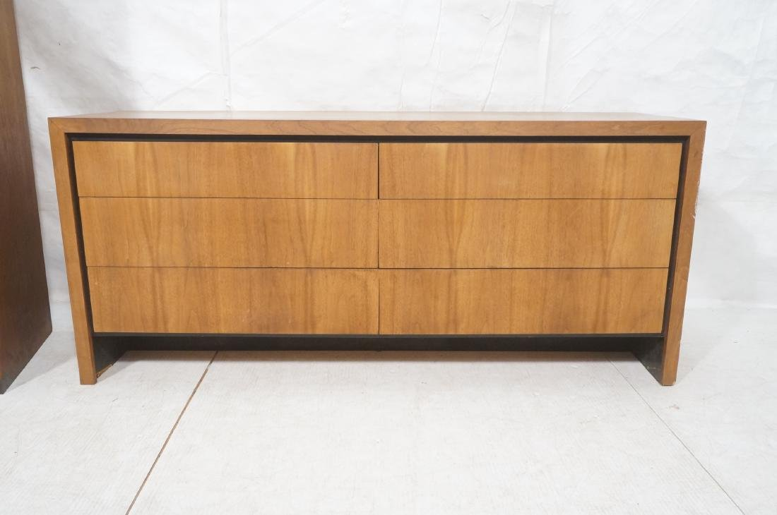 2Pc American Modern Walnut Bedroom Set DILLINGHAM - 2