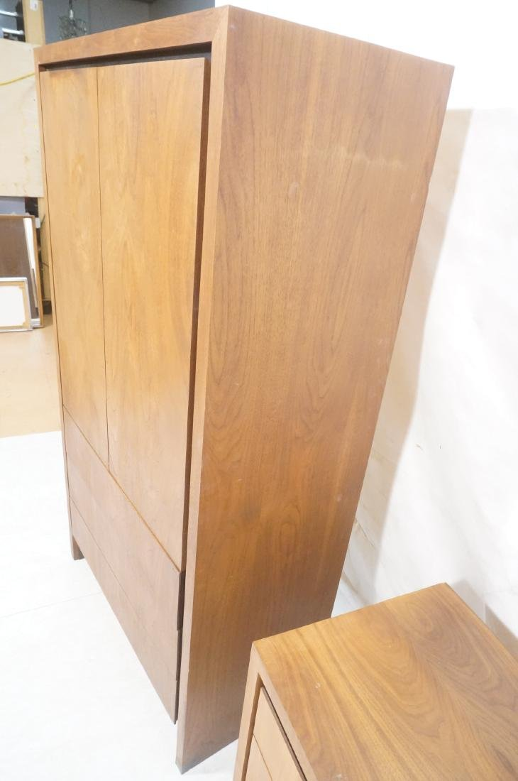 2Pc American Modern Walnut Bedroom Set DILLINGHAM - 6