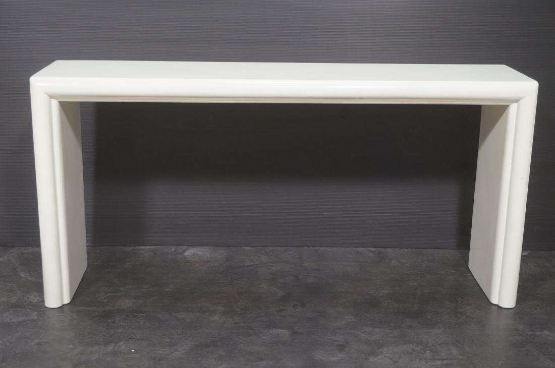 Modernist Lacquered Hall Console Table. Modeled p - 2