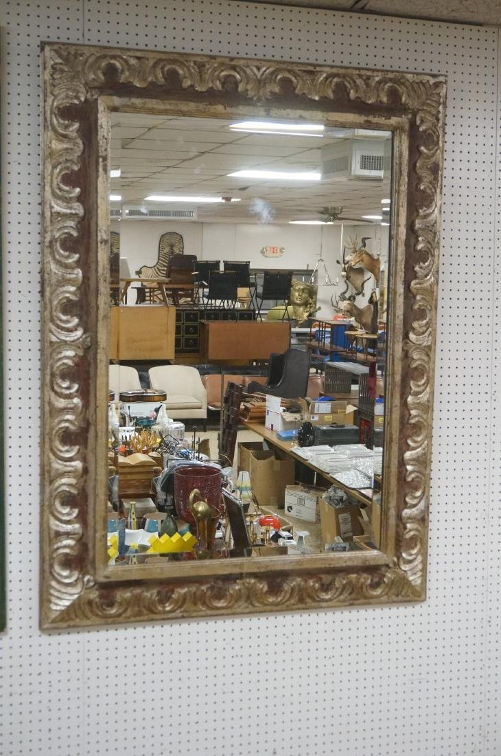 Large Oversized Silver Gilt Frame Wall Mirror. 7""