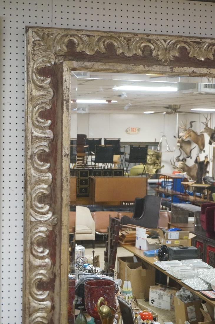 """Large Oversized Silver Gilt Frame Wall Mirror. 7"""" - 2"""
