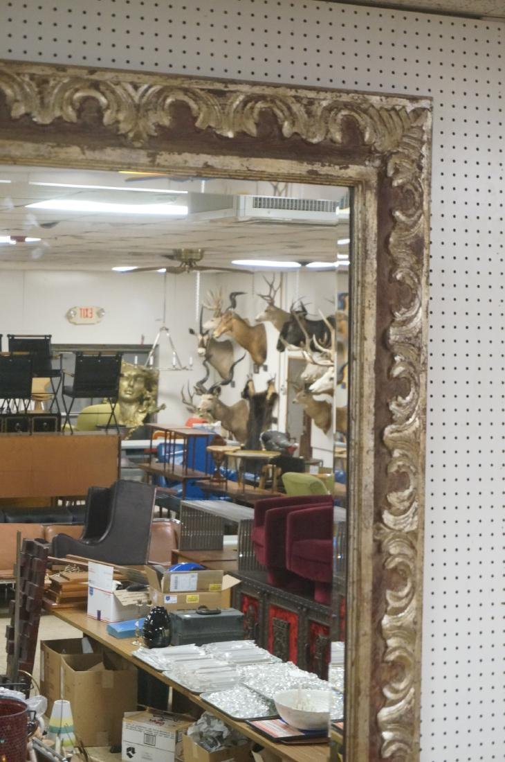 """Large Oversized Silver Gilt Frame Wall Mirror. 7"""" - 3"""