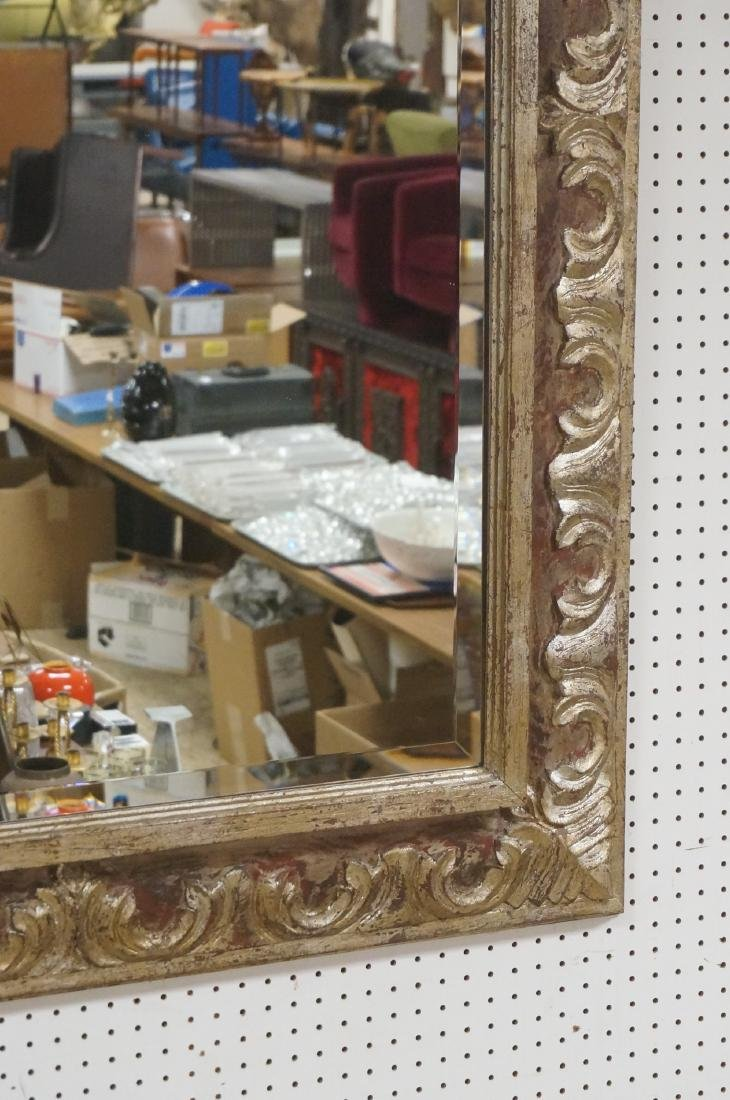 """Large Oversized Silver Gilt Frame Wall Mirror. 7"""" - 4"""