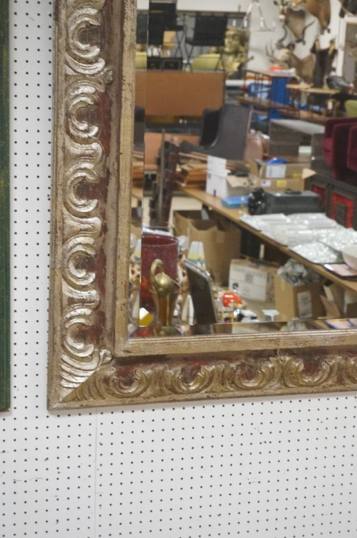 """Large Oversized Silver Gilt Frame Wall Mirror. 7"""" - 5"""