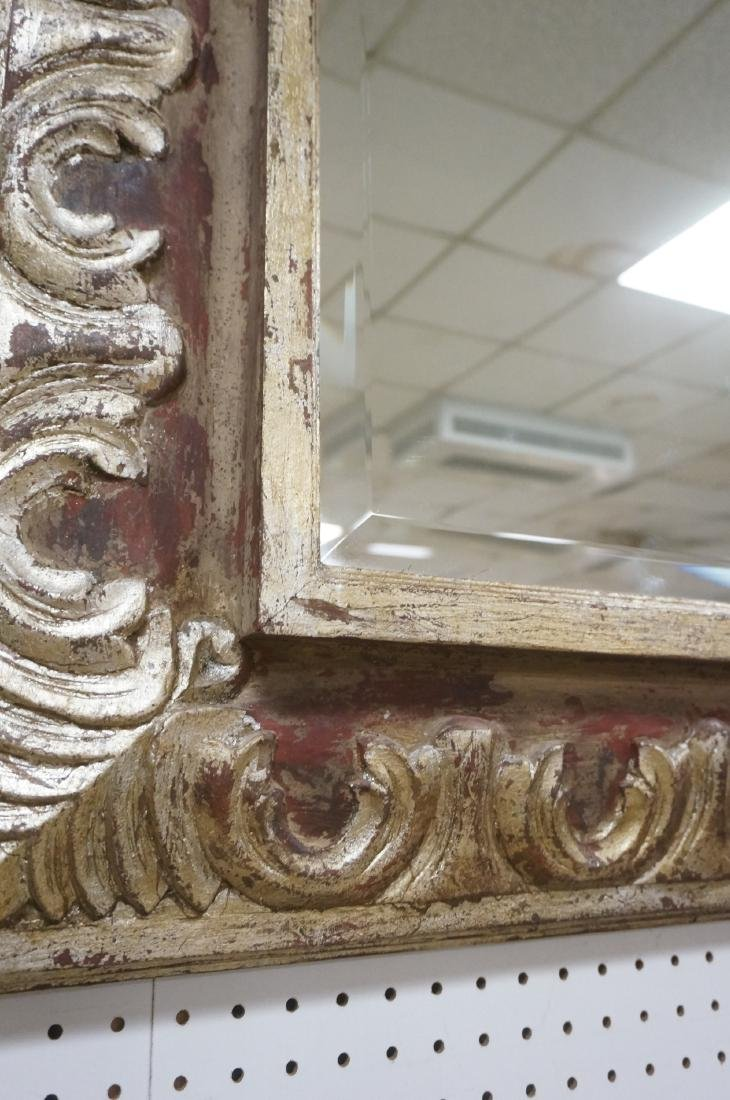 """Large Oversized Silver Gilt Frame Wall Mirror. 7"""" - 7"""