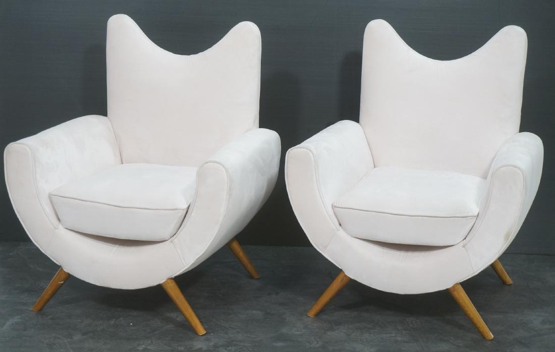 Pr Italian Style Modern Off White Velvet Lounge C