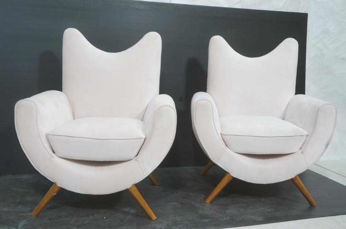 Pr Italian Style Modern Off White Velvet Lounge C - 2