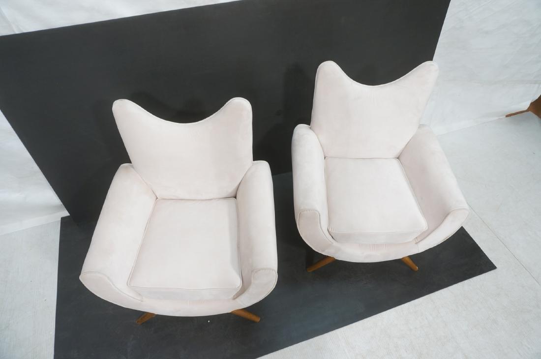 Pr Italian Style Modern Off White Velvet Lounge C - 3