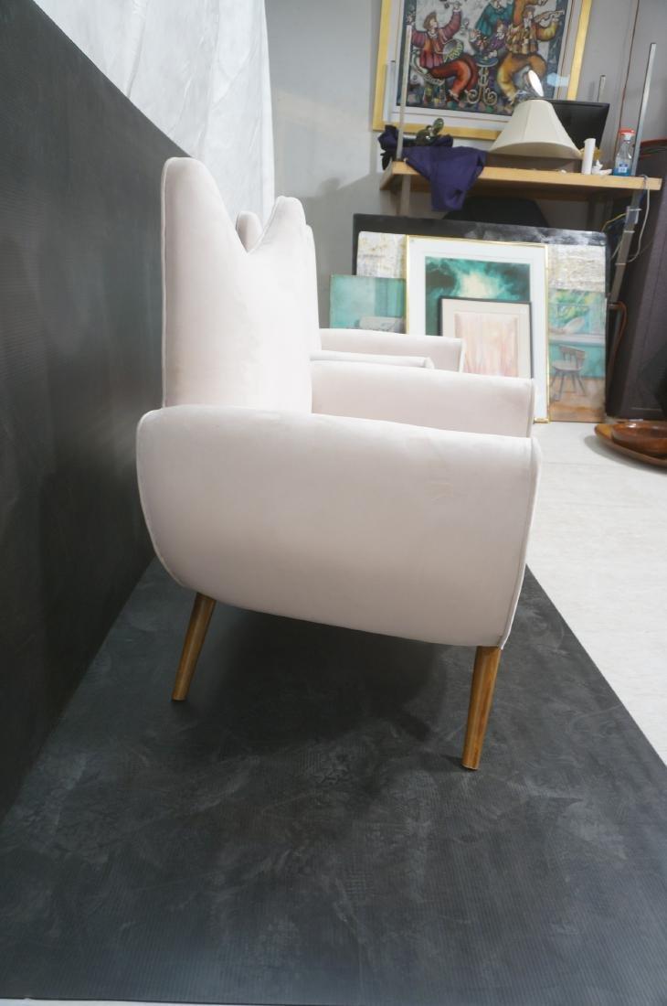 Pr Italian Style Modern Off White Velvet Lounge C - 4