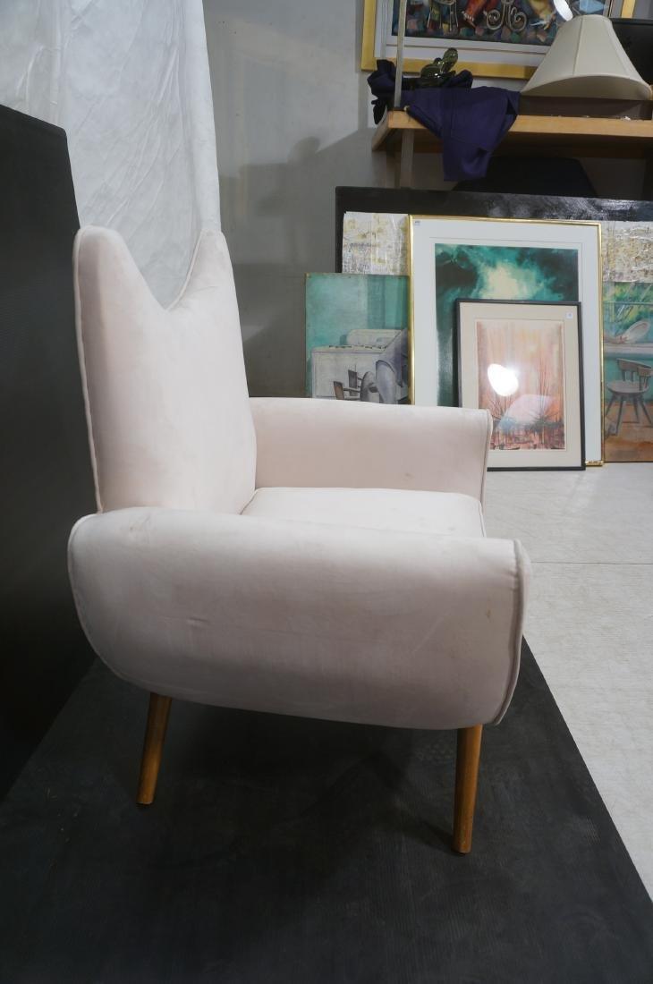 Pr Italian Style Modern Off White Velvet Lounge C - 5