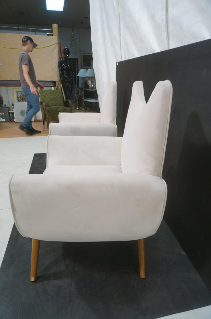 Pr Italian Style Modern Off White Velvet Lounge C - 6