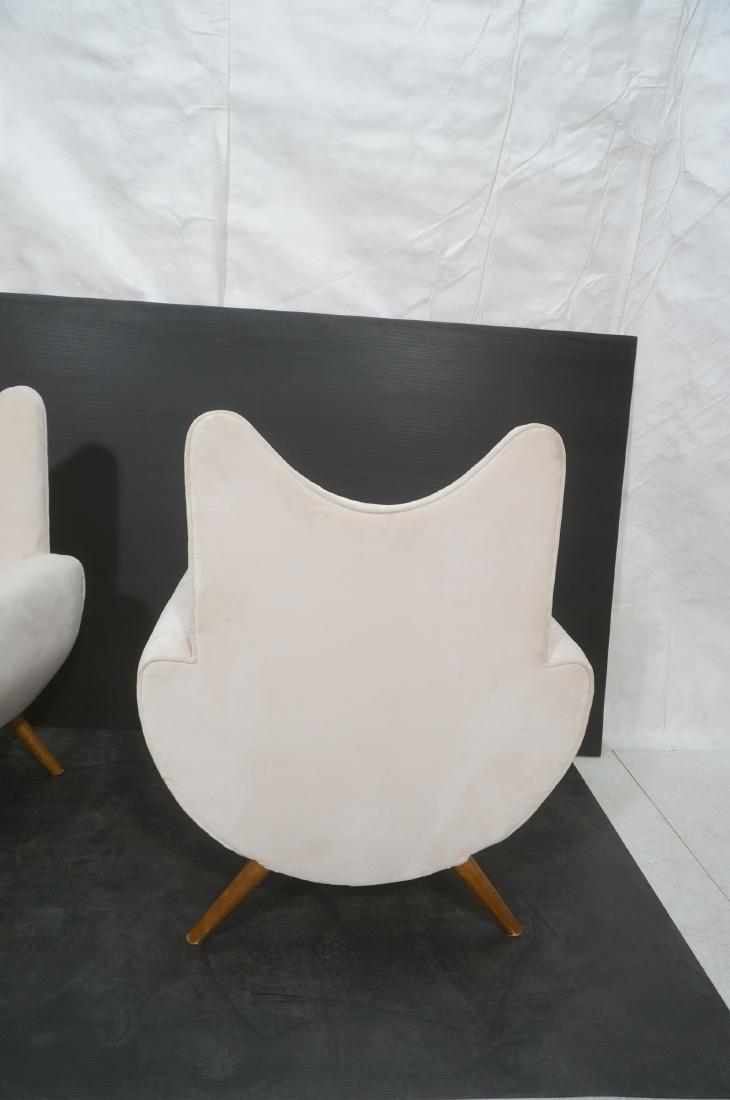 Pr Italian Style Modern Off White Velvet Lounge C - 7