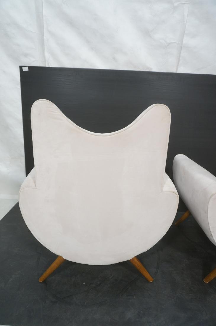 Pr Italian Style Modern Off White Velvet Lounge C - 8