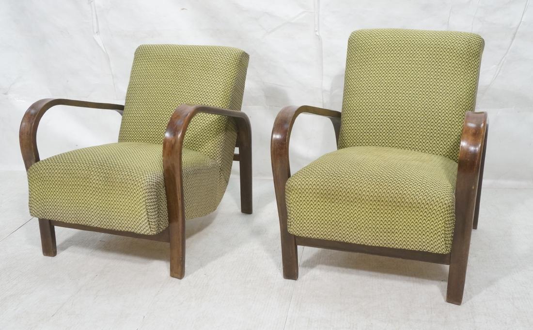 Pr JINDRICH HALABALA Modernist Lounge Chairs. Gre