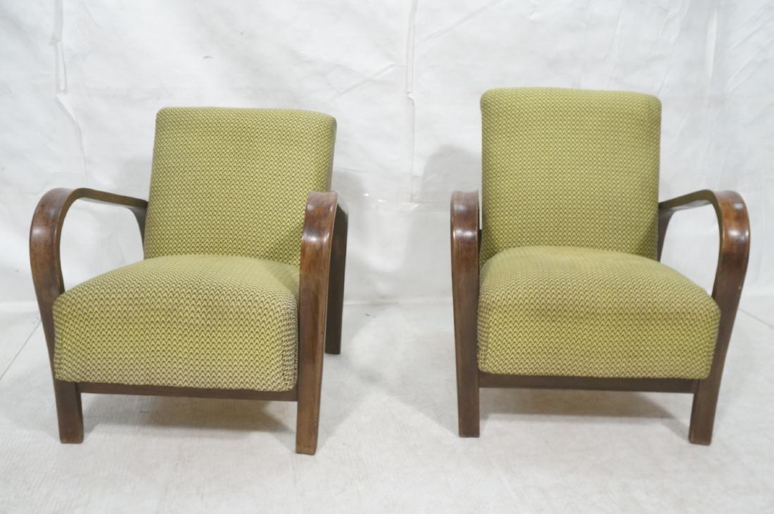 Pr JINDRICH HALABALA Modernist Lounge Chairs. Gre - 2