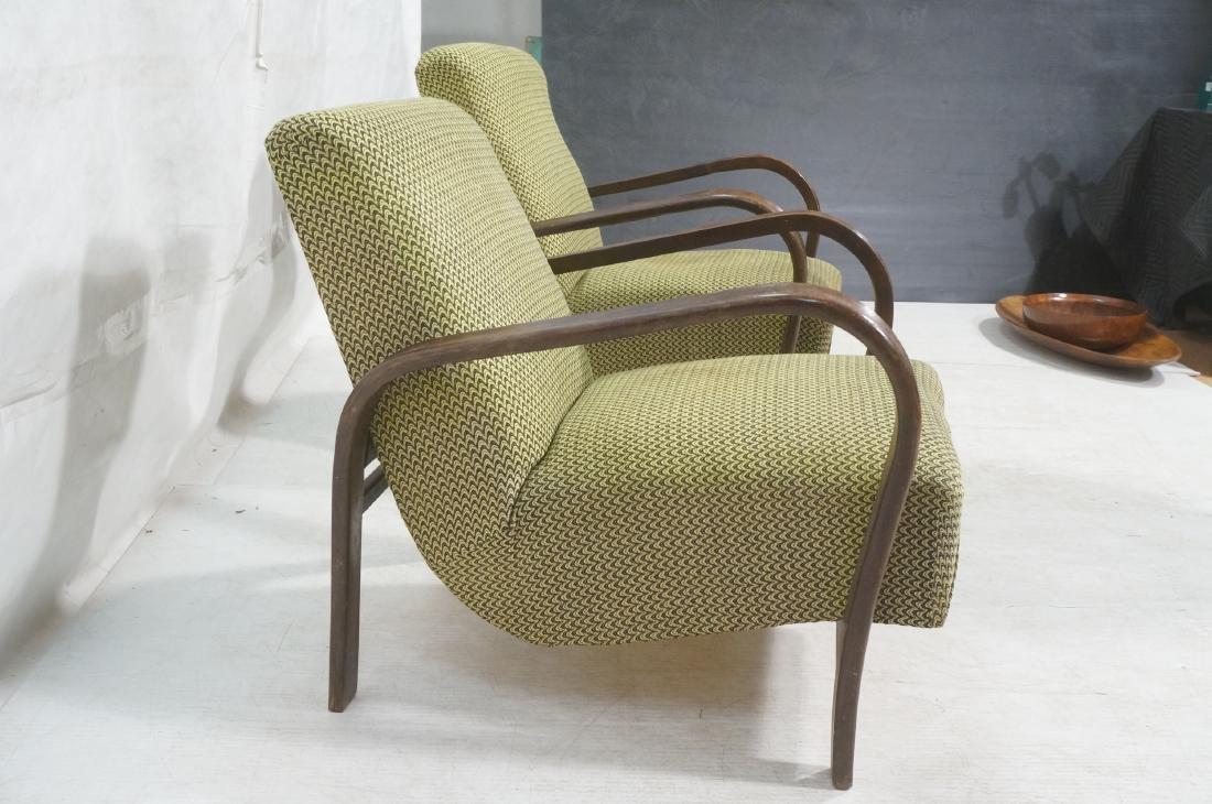 Pr JINDRICH HALABALA Modernist Lounge Chairs. Gre - 3