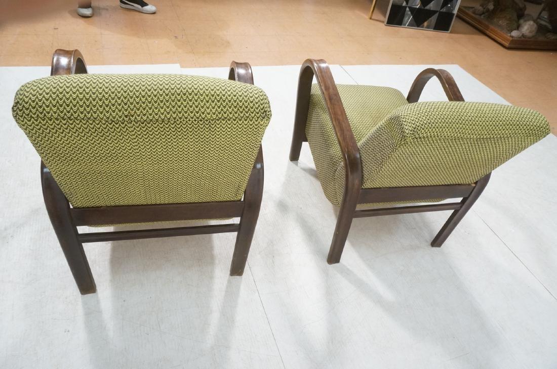 Pr JINDRICH HALABALA Modernist Lounge Chairs. Gre - 4