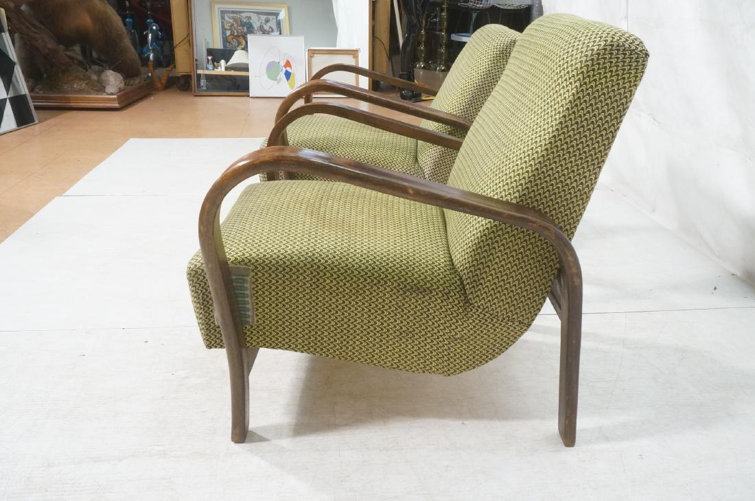 Pr JINDRICH HALABALA Modernist Lounge Chairs. Gre - 5