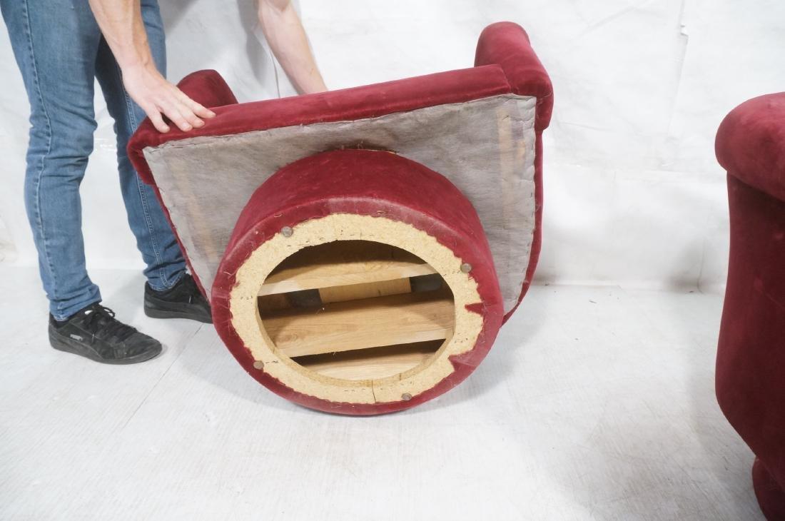 Pr MILO BAUGHMAN Style Barrel Back Lounge Chairs. - 10